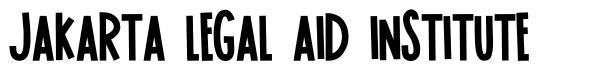 Jakarta Legal Aid Institute schriftart