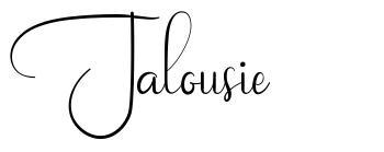 Jalousie schriftart