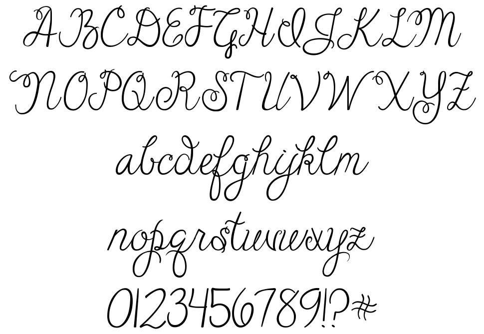 Janda Cheerful Script шрифт
