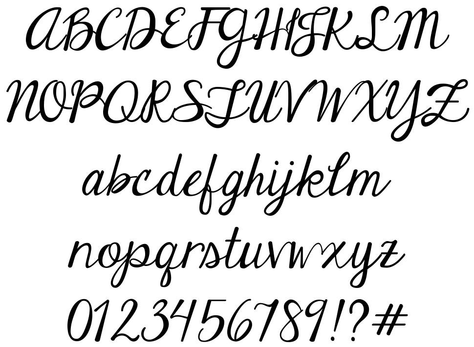 Janda Elegant Handwriting font