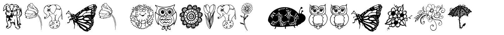 Janda Spring Doodles fonte