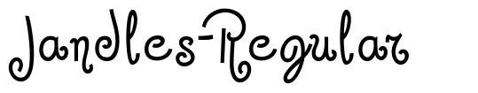 Jandles-Regular font