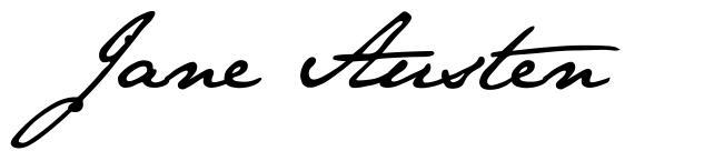 Jane Austen schriftart