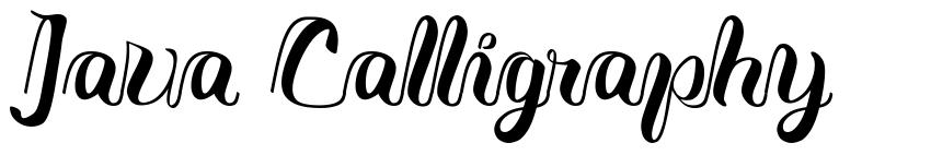 Java Calligraphy font
