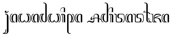 Jawadwipa Adisastra font