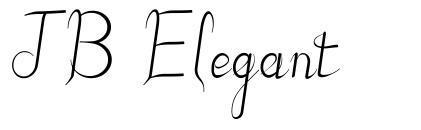 JB Elegant font