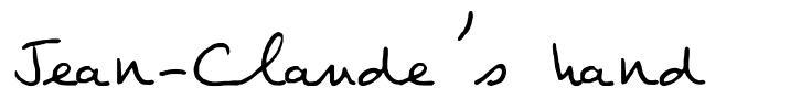 Jean-Claude's hand font