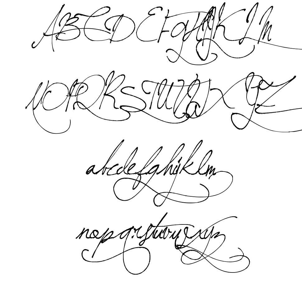 fancy handwriting