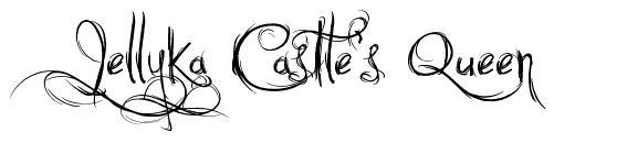 Jellyka Castle's Queen 字形