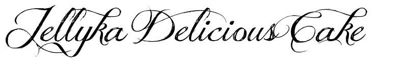 Jellyka Delicious Cake font