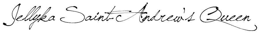 Jellyka Saint-Andrew's Queen 字形