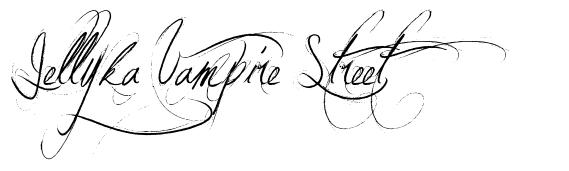 Jellyka Vampire Street шрифт
