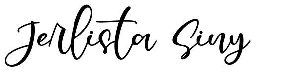 Jerlista Siny 字形