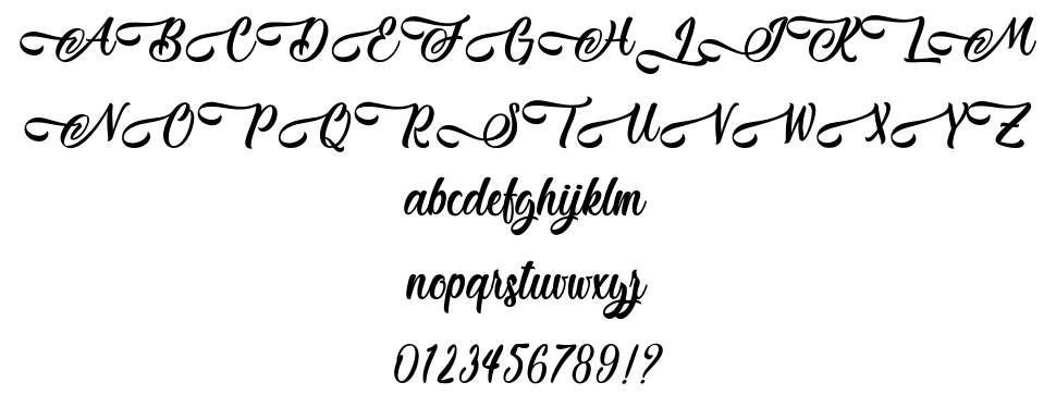 Jestho Fisher font