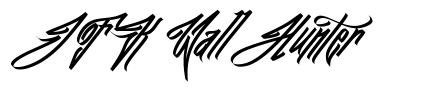 JFK Wall Hunter font