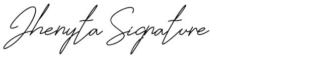 Jhenyta Signature