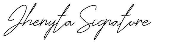 Jhenyta Signature font