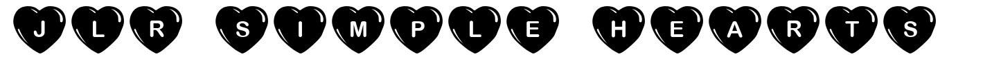 JLR Simple Hearts font