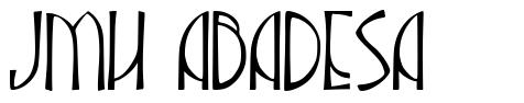 JMH Abadesa 字形