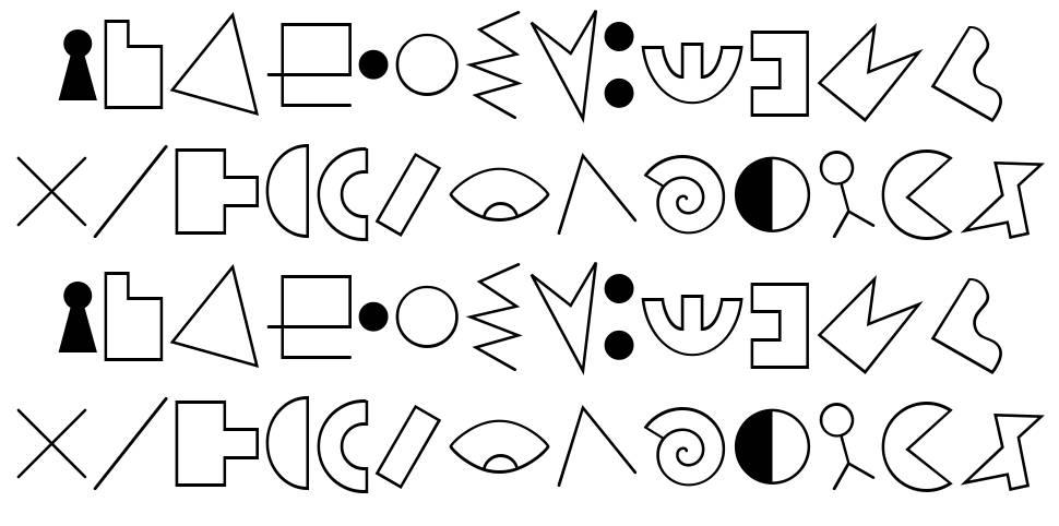 JMH Alfabeto Petiso 字形