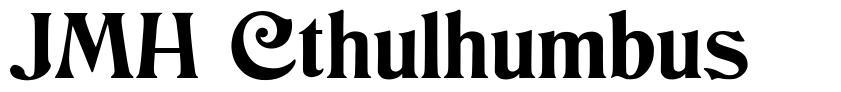 JMH Cthulhumbus písmo
