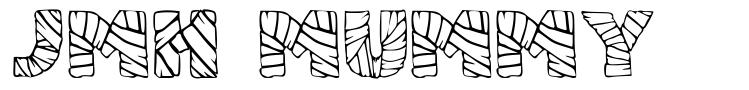JMH Mummy písmo