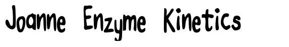 Joanne Enzyme Kinetics