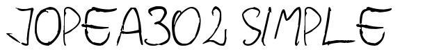 Jopea302 Simple