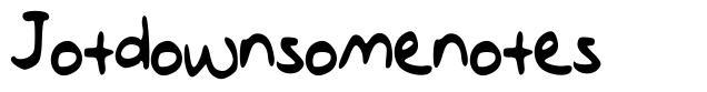 Jotdownsomenotes font