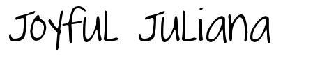 Joyful Juliana 字形