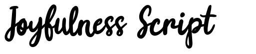 Joyfulness Script schriftart