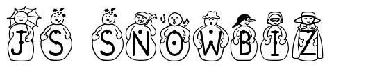 JS Snowbiz 字形
