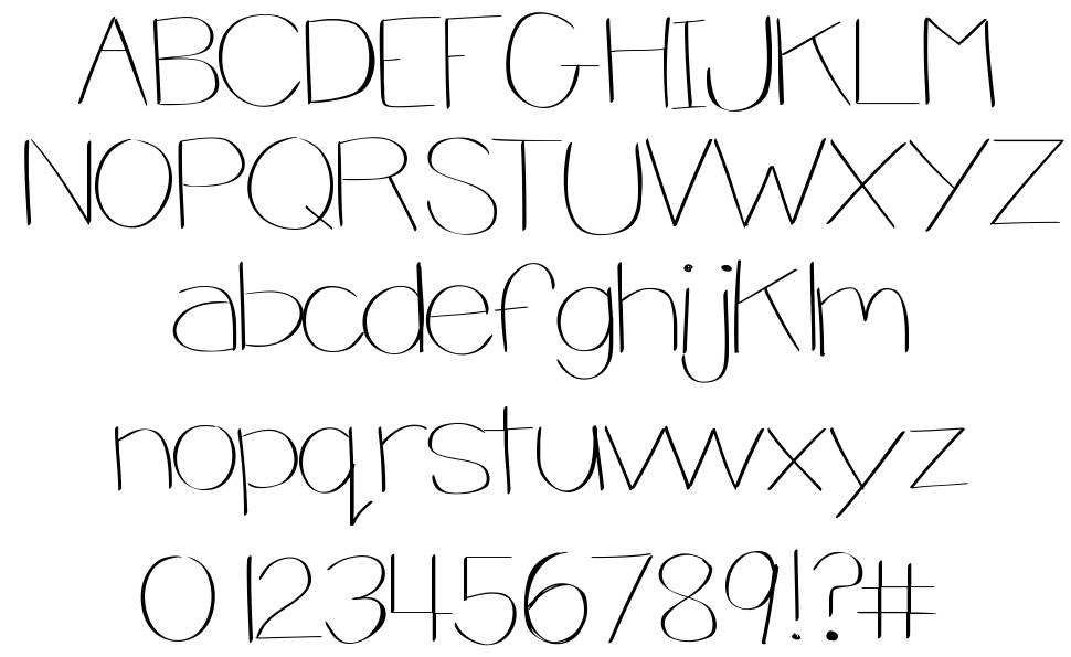 Jsb Thin And Chunky font