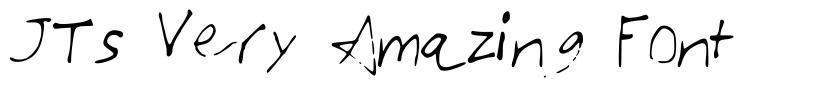 JTs Very Amazing Font font