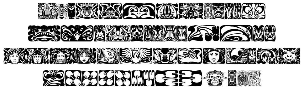 Jugendstil ornamente schriftart zum kostenlosen download for Ornamente jugendstil
