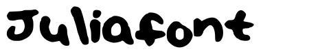 Juliafont font