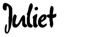 Juliet 字形