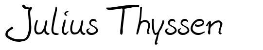 Julius Thyssen font