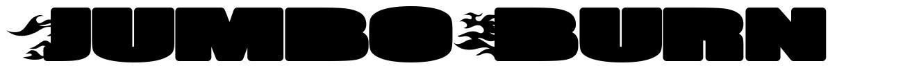 Jumbo Burn font