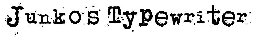 Junko's Typewriter 字形