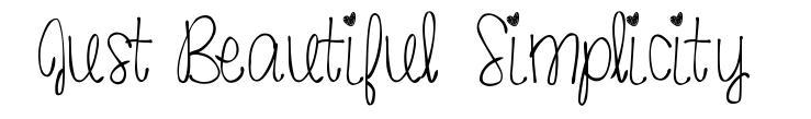 Just Beautiful Simplicity font