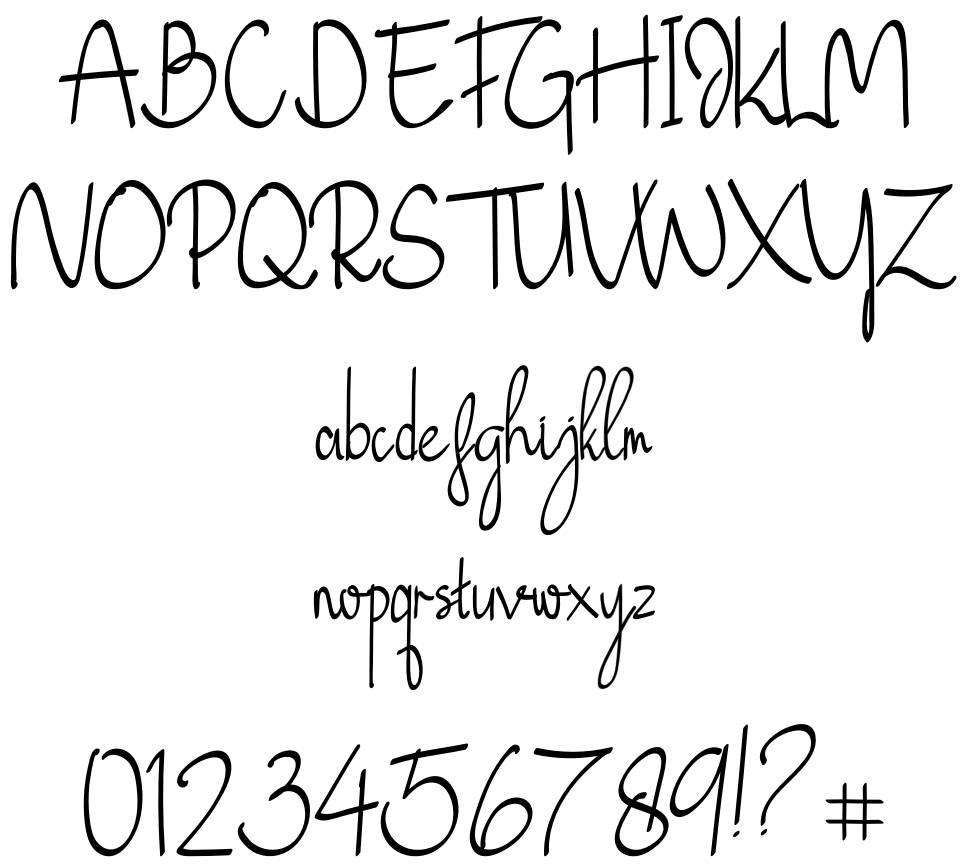 Just Blossom font