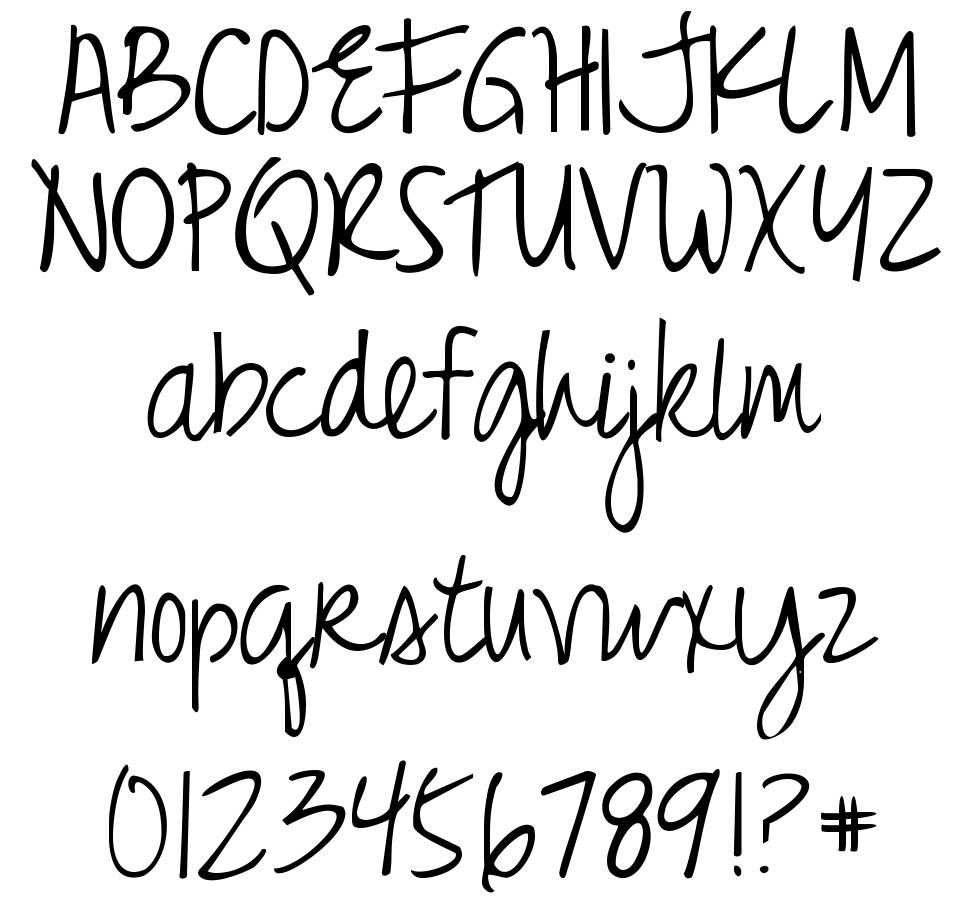 Just Realize font
