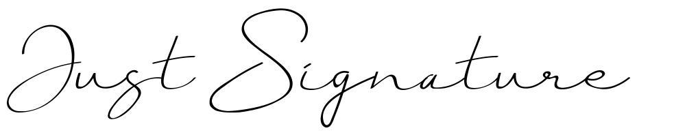 Just Signature