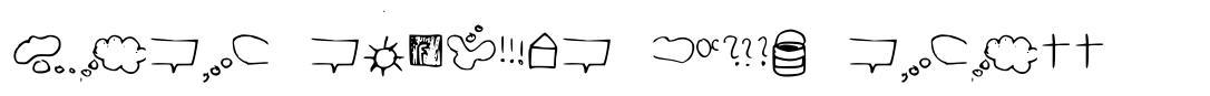 Just symbols and stuff font