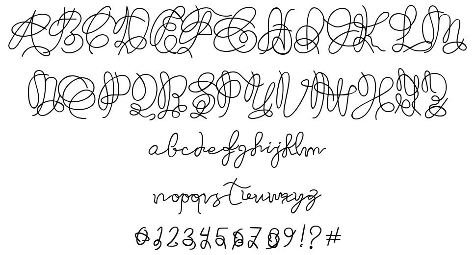 Just Thought font