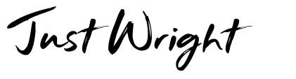 Just Wright fuente
