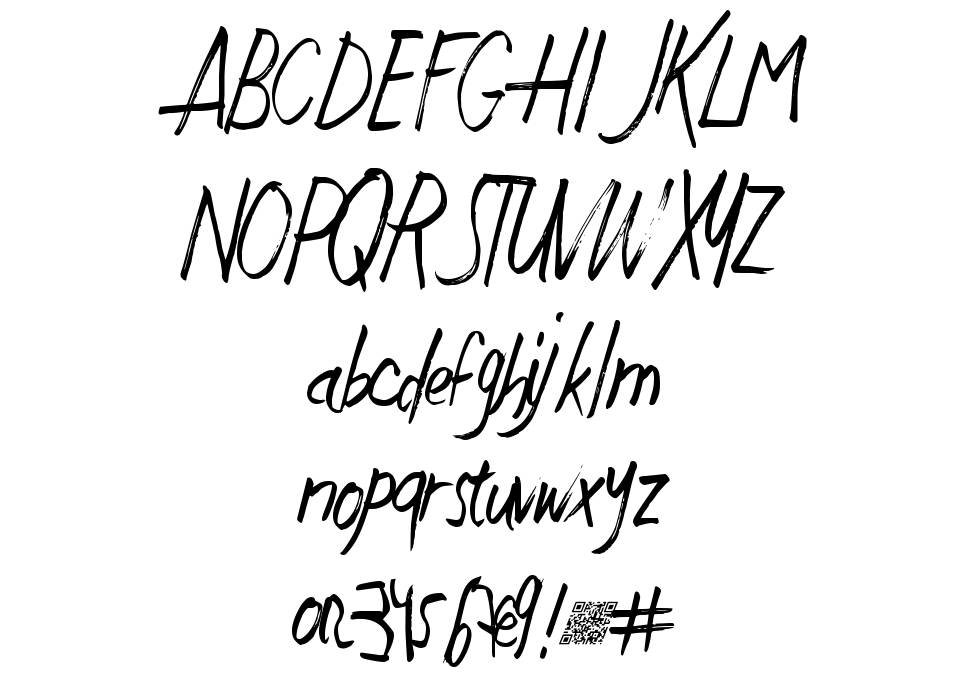 Just Write DT font