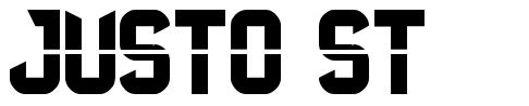 Justo St font
