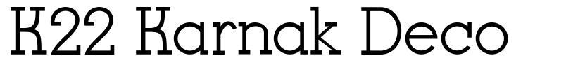 K22 Karnak Deco font